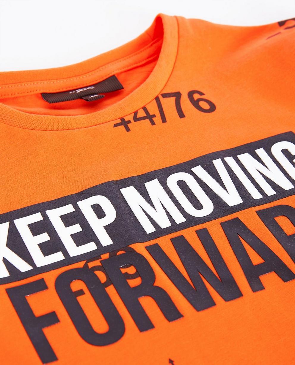 T-shirts - Knallorange - Fluo-oranje T-shirt met print